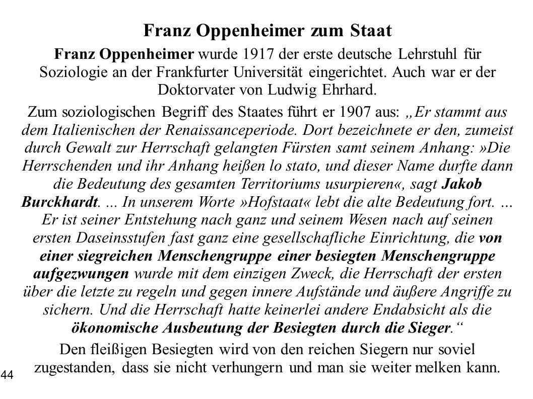Franz Oppenheimer zum Staat