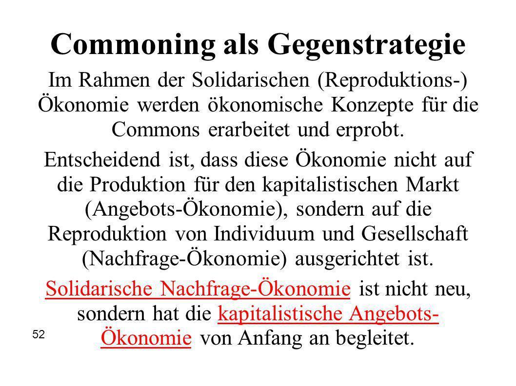 Commoning als Gegenstrategie