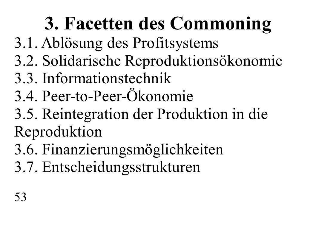 3. Facetten des Commoning