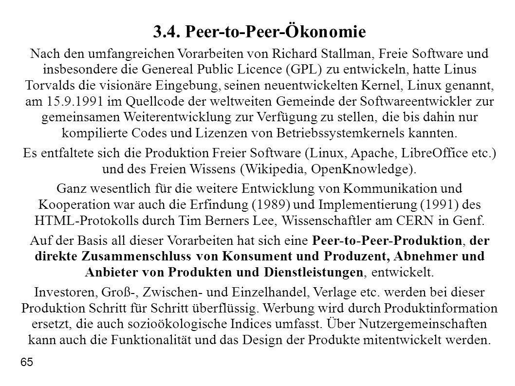 3.4. Peer-to-Peer-Ökonomie