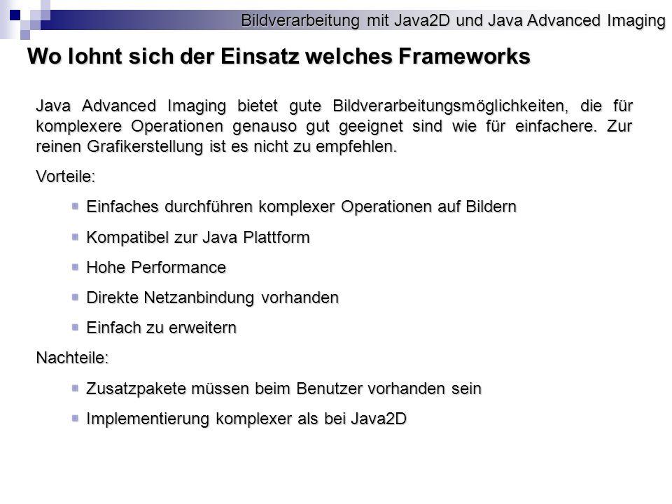 Wo lohnt sich der Einsatz welches Frameworks