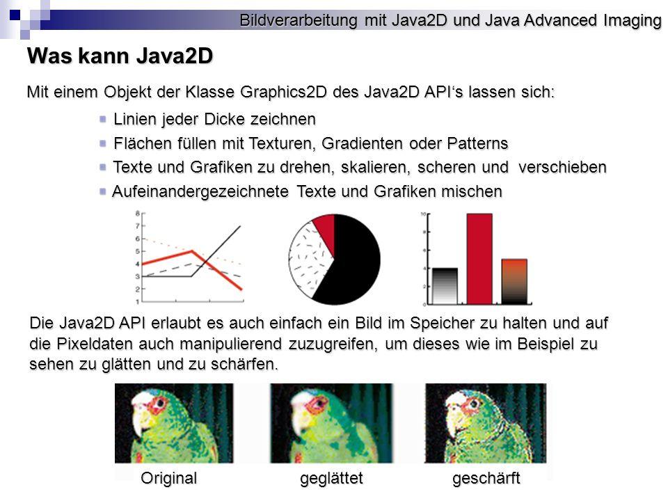Was kann Java2D Bildverarbeitung mit Java2D und Java Advanced Imaging
