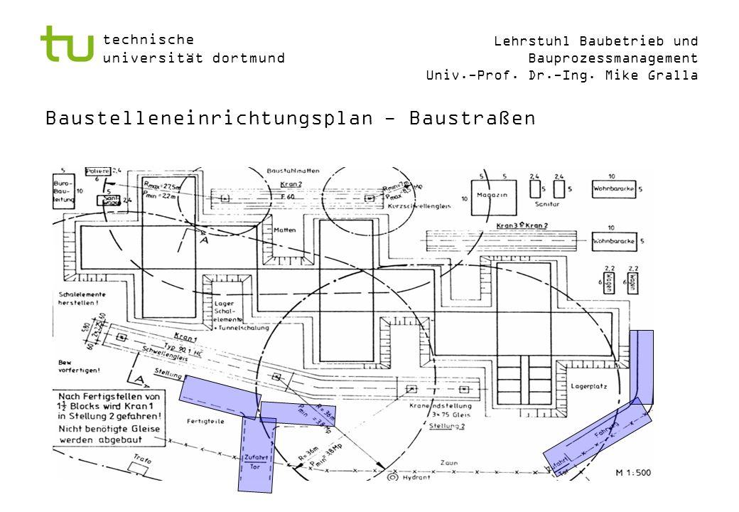 Baustelleneinrichtungsplan - Baustraßen