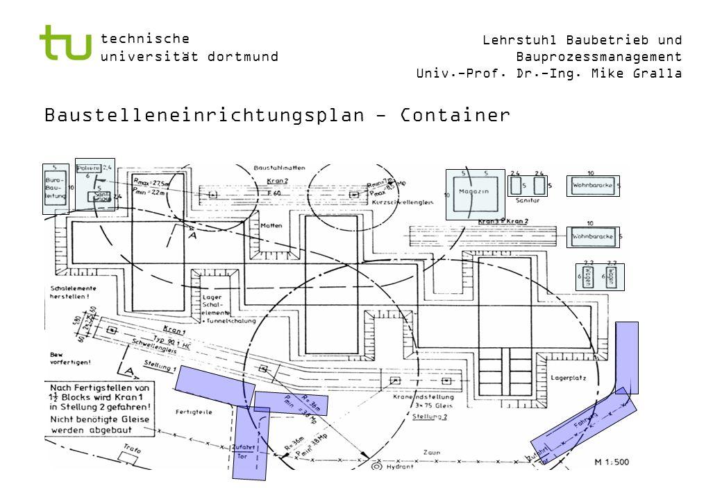 Baustelleneinrichtungsplan - Container