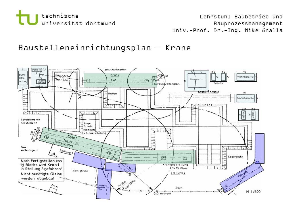 Baustelleneinrichtungsplan - Krane