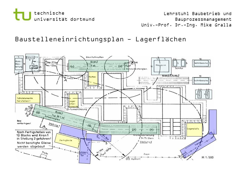 Baustelleneinrichtungsplan - Lagerflächen