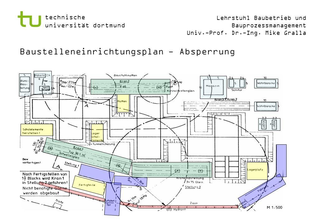 Baustelleneinrichtungsplan - Absperrung
