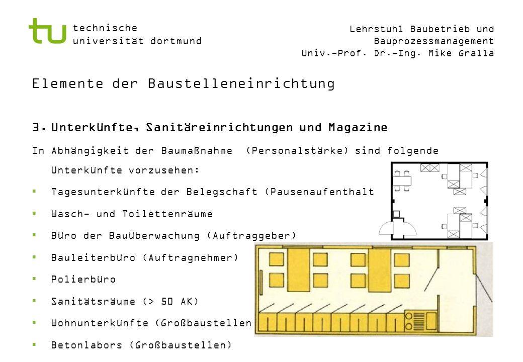 Elemente der Baustelleneinrichtung
