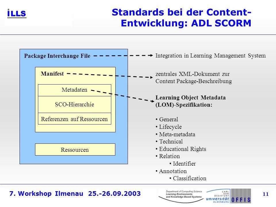 Standards bei der Content-Entwicklung: ADL SCORM