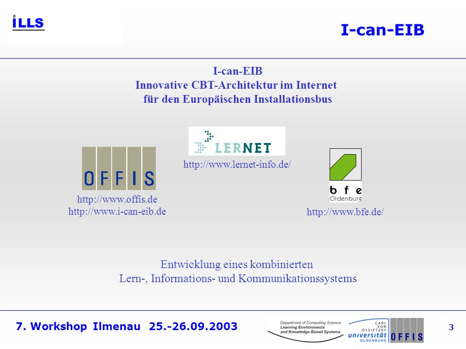 I-can-EIB I-can-EIB Innovative CBT-Architektur im Internet