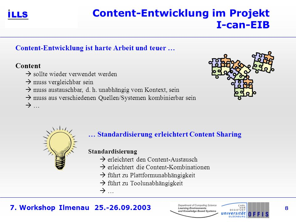 Content-Entwicklung im Projekt I-can-EIB