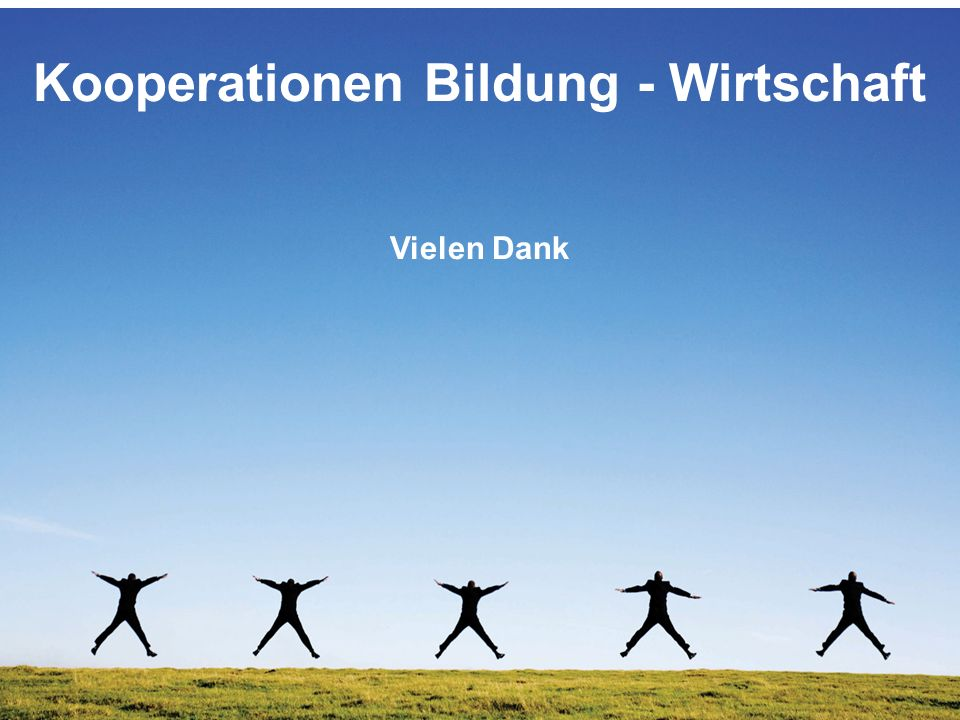 Kooperationen Bildung - Wirtschaft