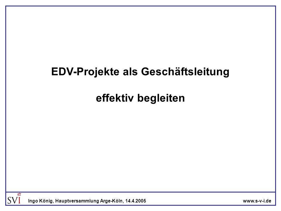 EDV-Projekte als Geschäftsleitung