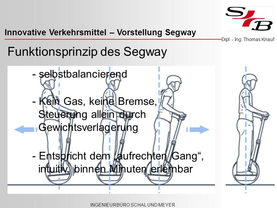 Funktionsprinzip des Segway