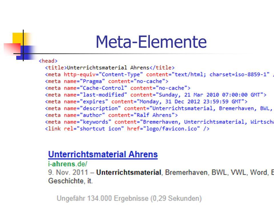 Meta-Elemente