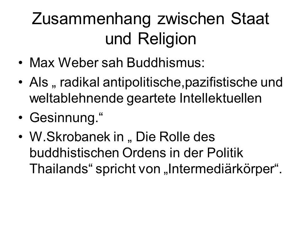 Zusammenhang zwischen Staat und Religion