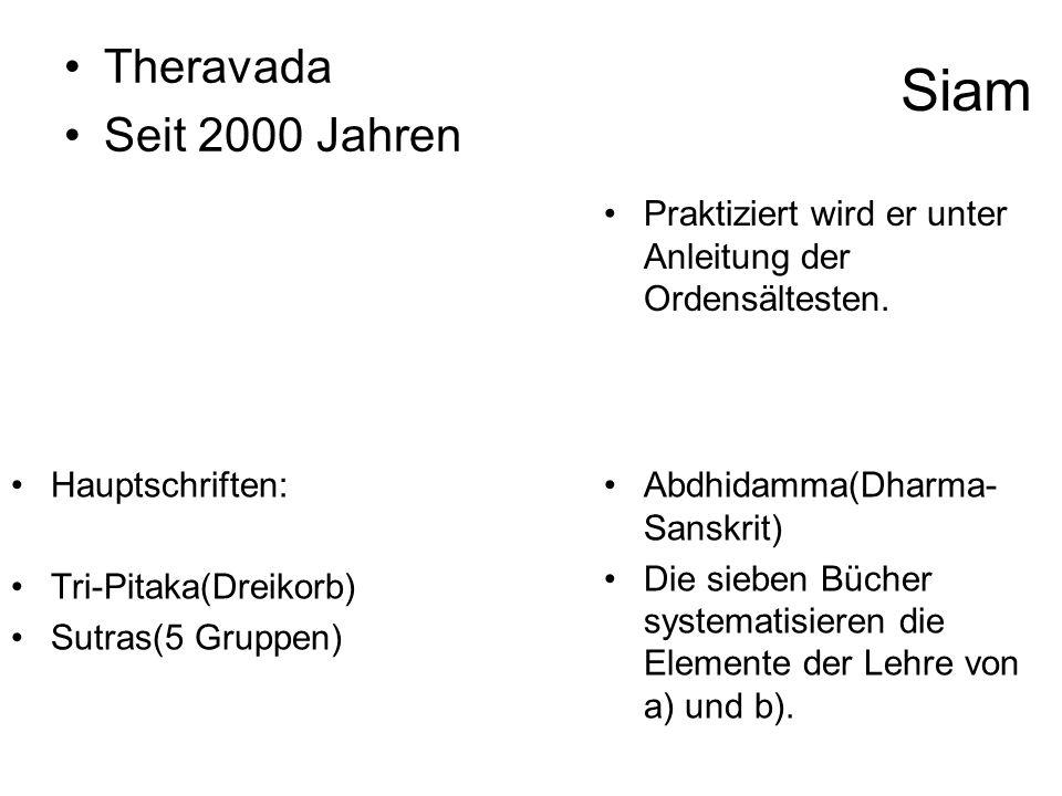 Siam Theravada Seit 2000 Jahren