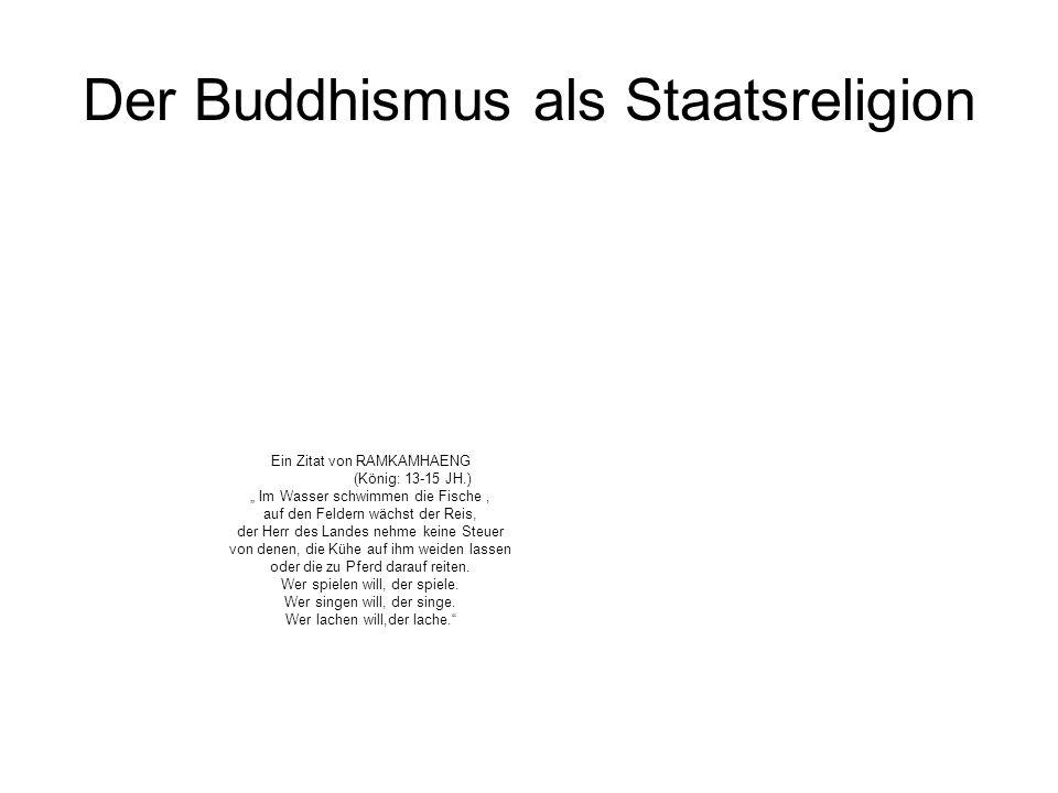 Der Buddhismus als Staatsreligion