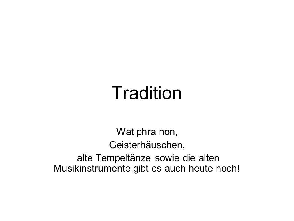 Tradition Wat phra non, Geisterhäuschen,