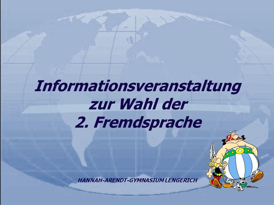 Informationsveranstaltung zur Wahl der 2. Fremdsprache