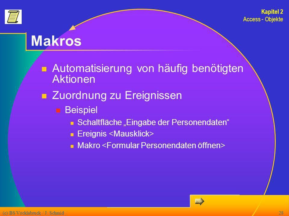 Makros Automatisierung von häufig benötigten Aktionen