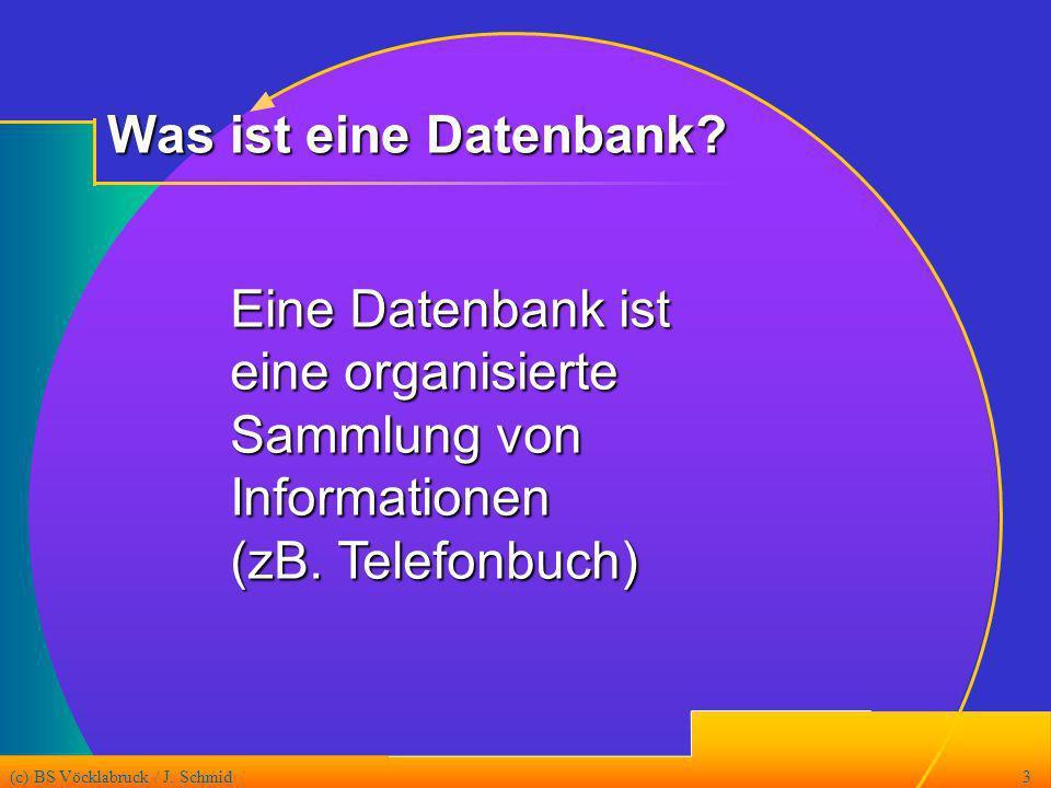 Was ist eine Datenbank Eine Datenbank ist eine organisierte Sammlung von Informationen (zB. Telefonbuch)