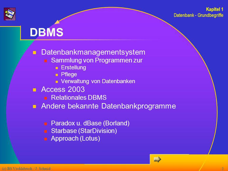 DBMS Datenbankmanagementsystem Access 2003