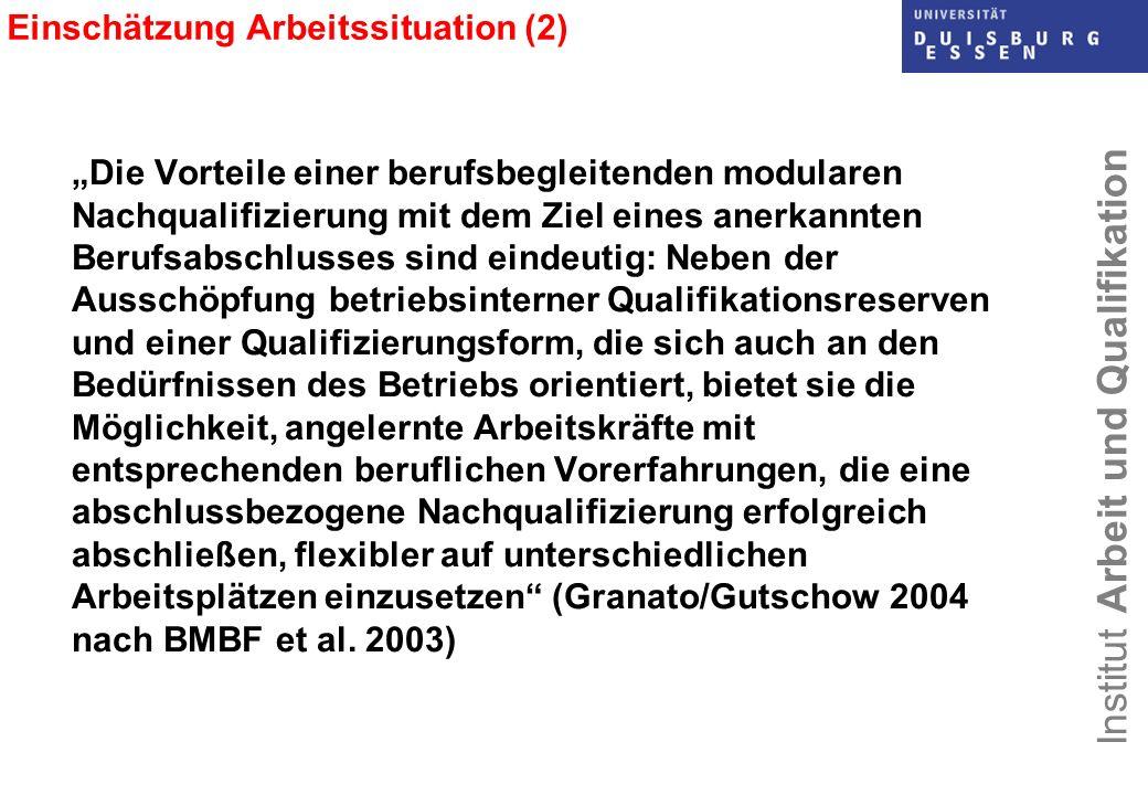 Einschätzung Arbeitssituation (2)