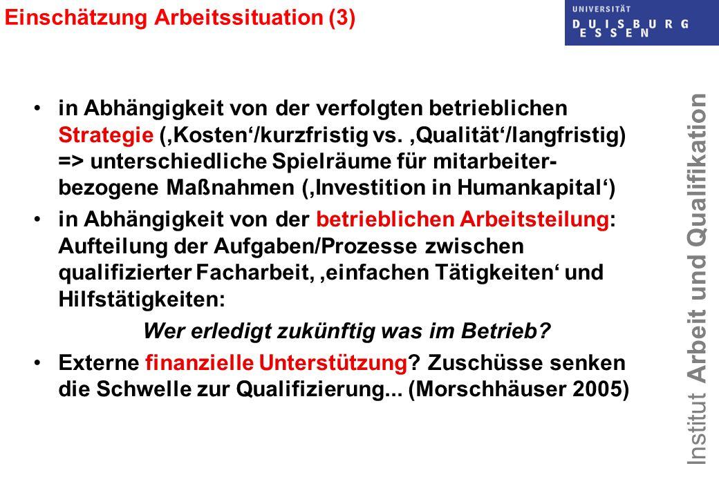 Einschätzung Arbeitssituation (3)