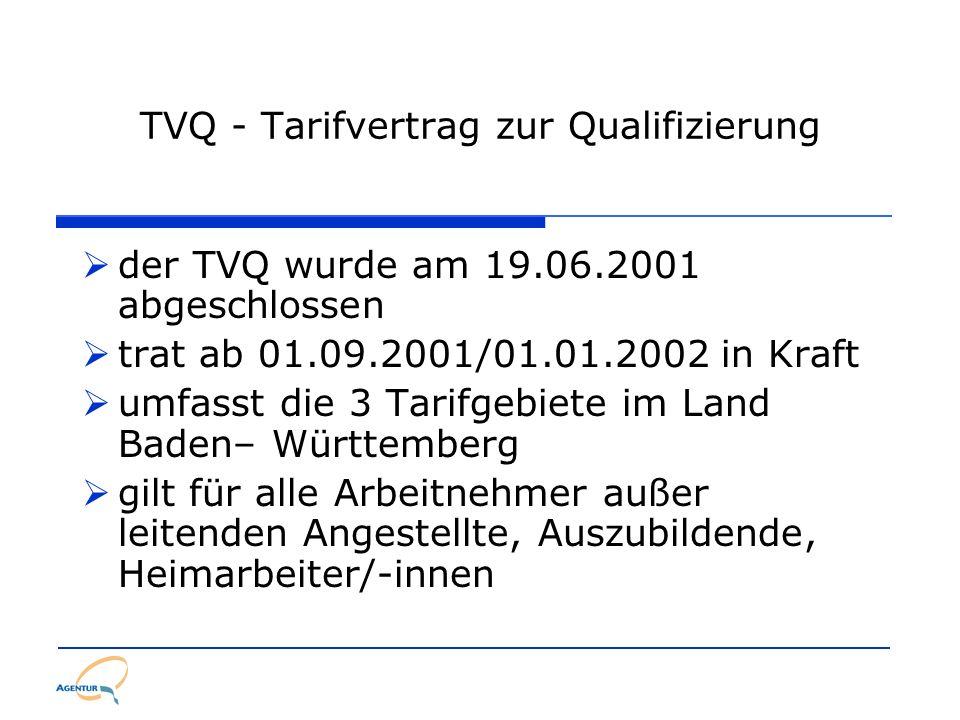 TVQ - Tarifvertrag zur Qualifizierung