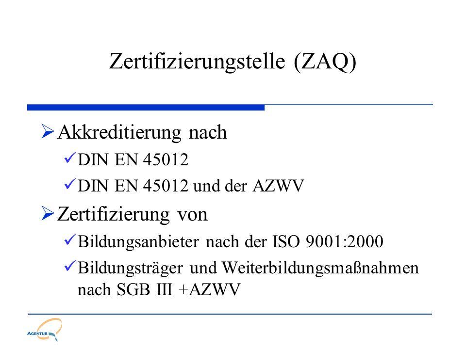 Zertifizierungstelle (ZAQ)