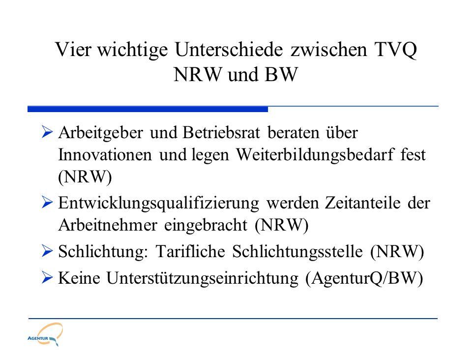 Vier wichtige Unterschiede zwischen TVQ NRW und BW