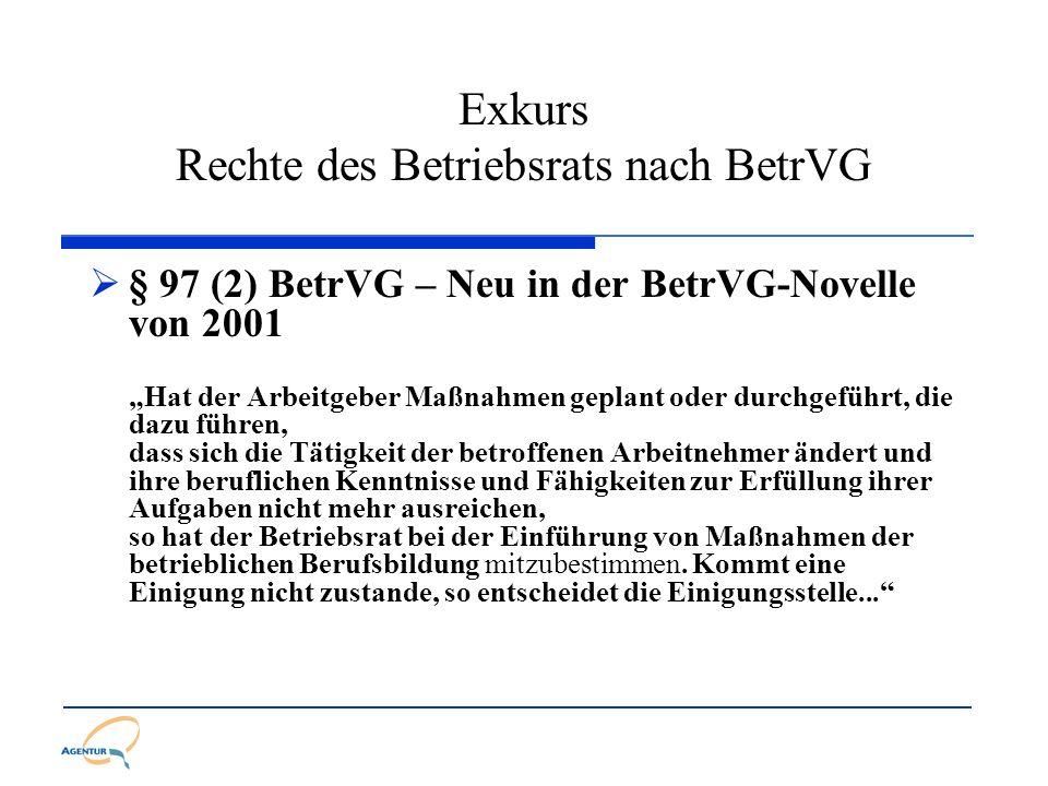 Exkurs Rechte des Betriebsrats nach BetrVG