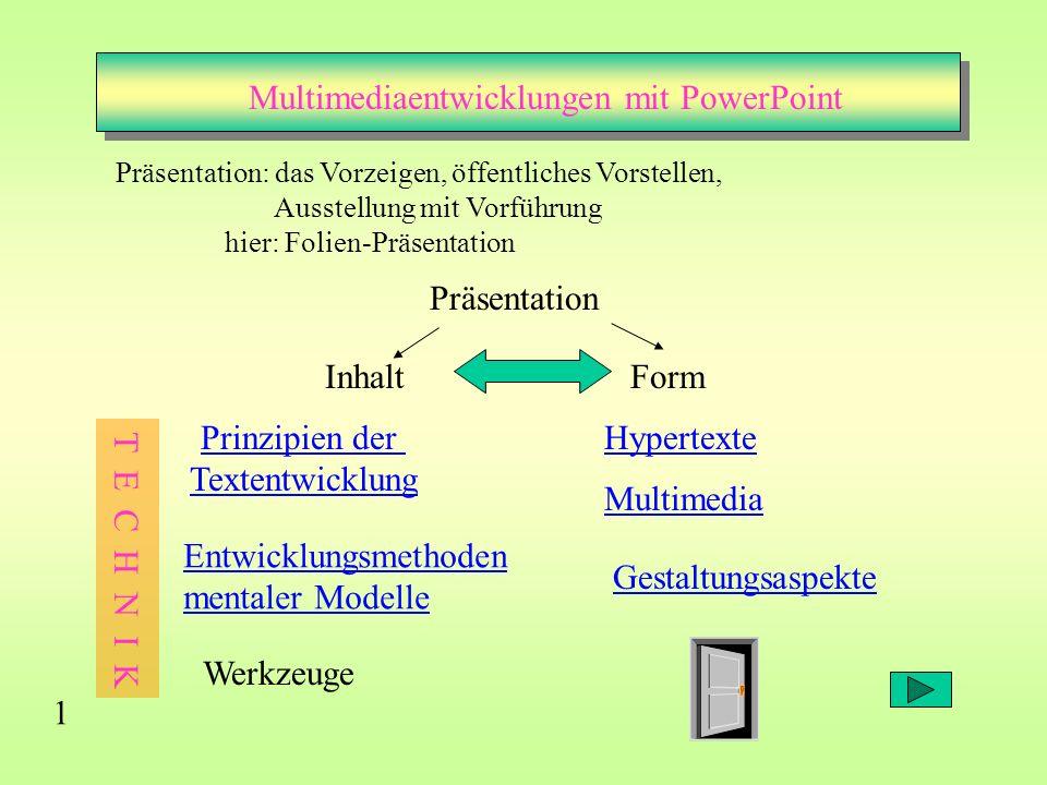 Multimediaentwicklungen mit PowerPoint