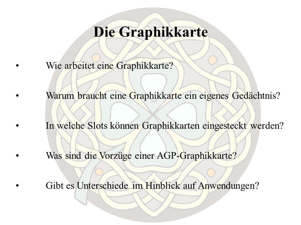 Die Graphikkarte Wie arbeitet eine Graphikkarte