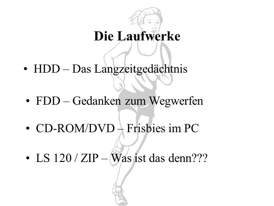 Die Laufwerke HDD – Das Langzeitgedächtnis