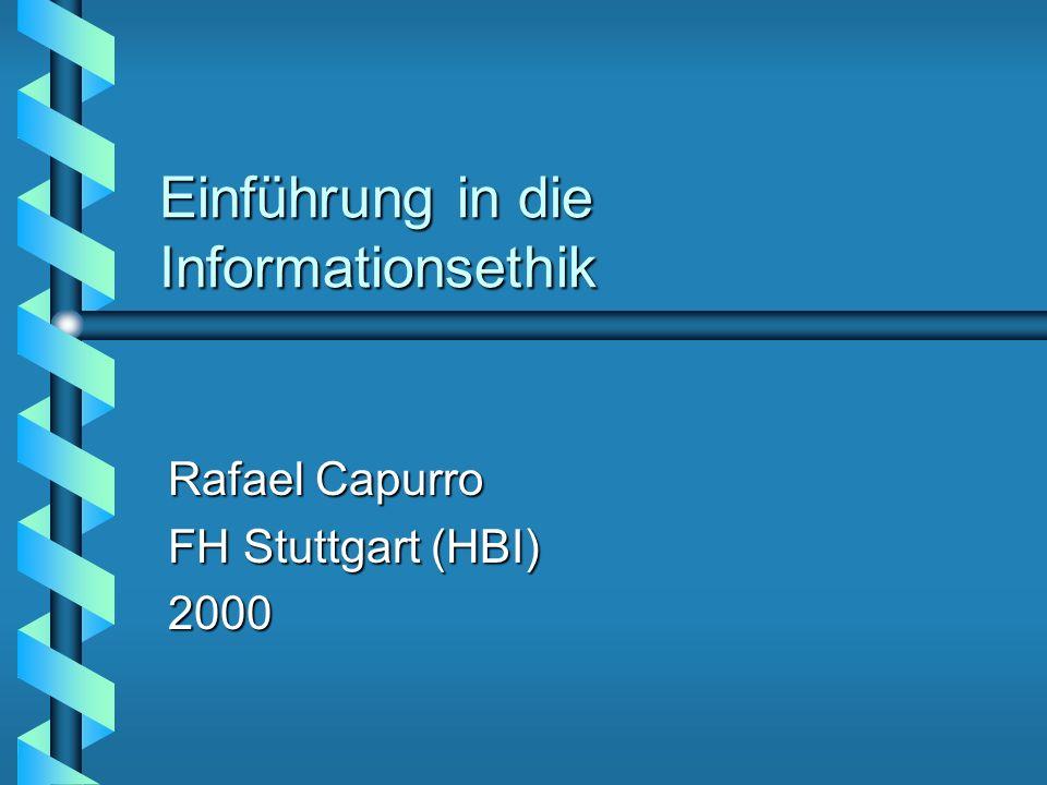 Einführung in die Informationsethik