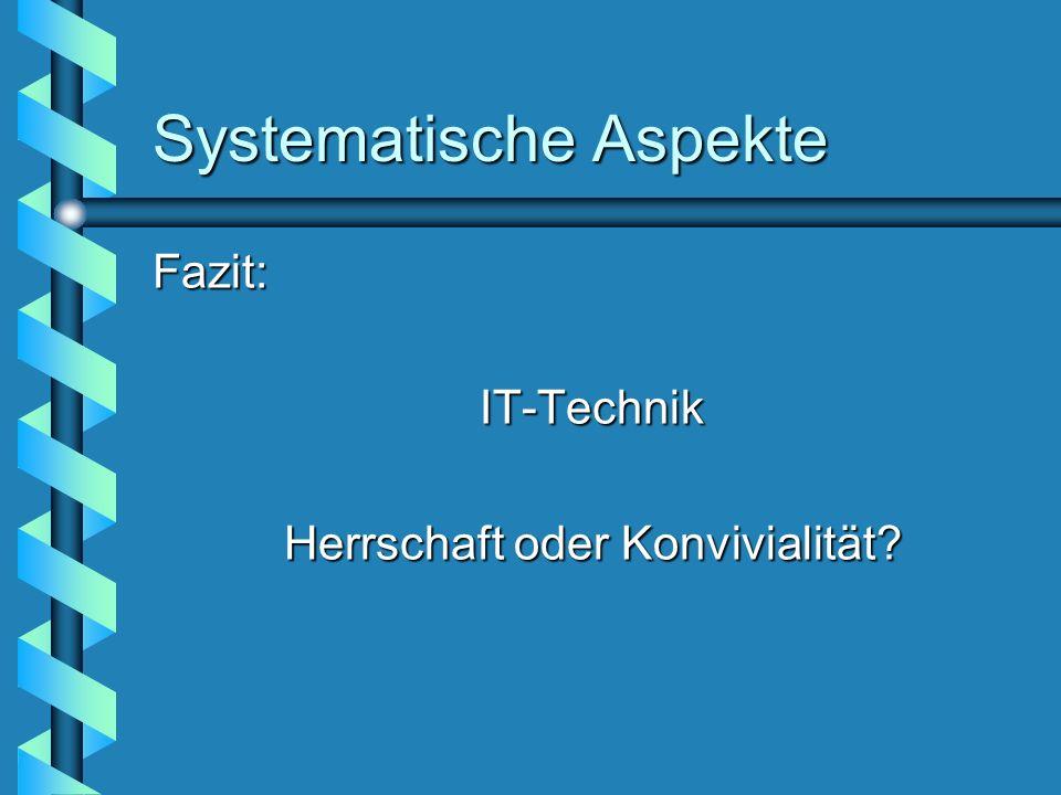 Systematische Aspekte