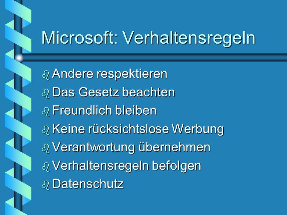 Microsoft: Verhaltensregeln