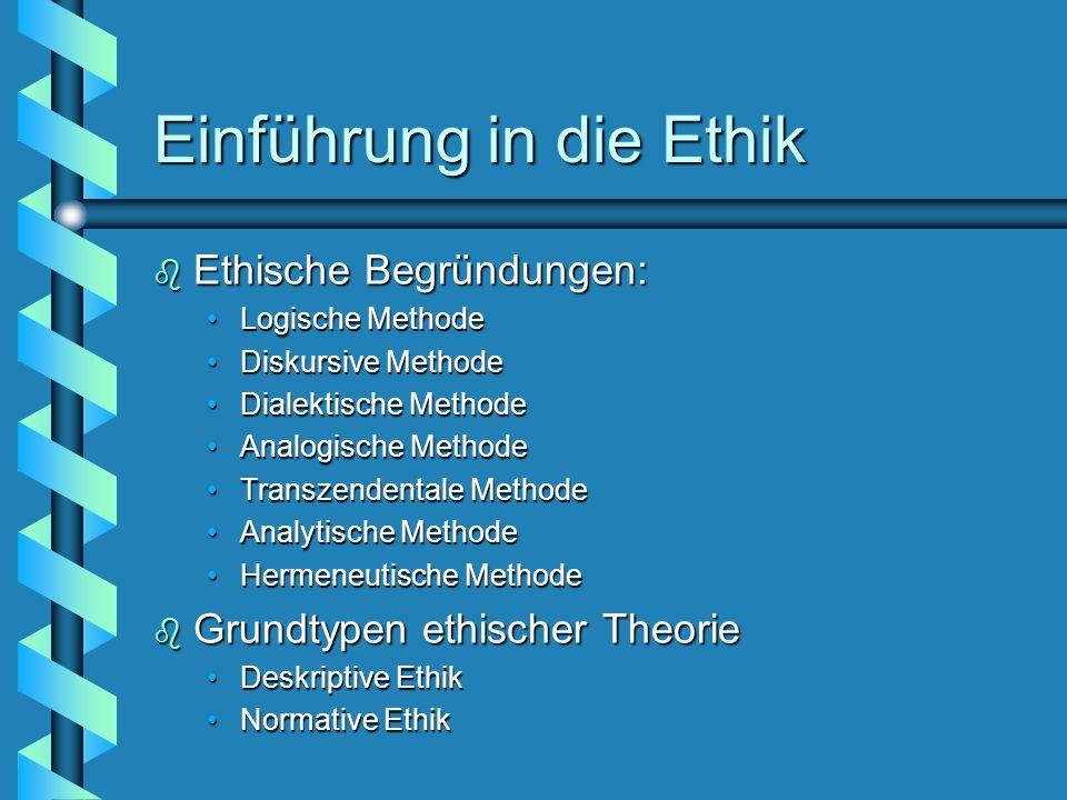 Einführung in die Ethik