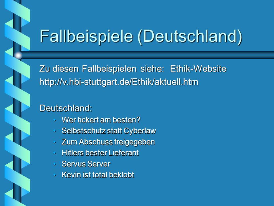 Fallbeispiele (Deutschland)