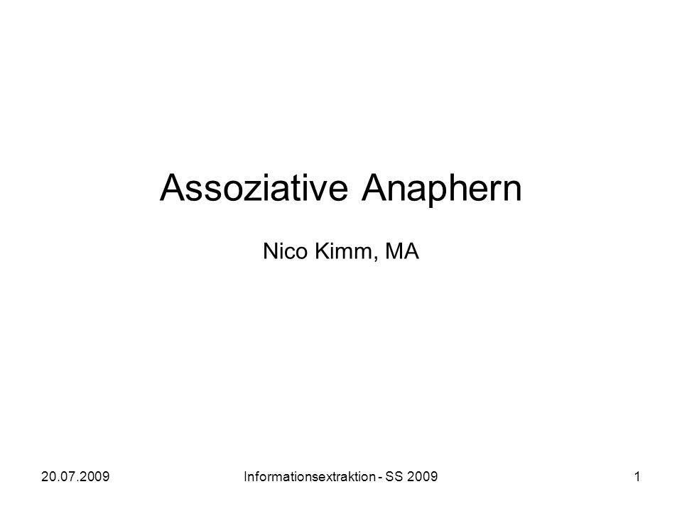 Assoziative Anaphern Nico Kimm, MA