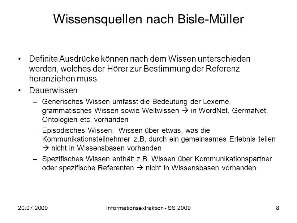 Wissensquellen nach Bisle-Müller