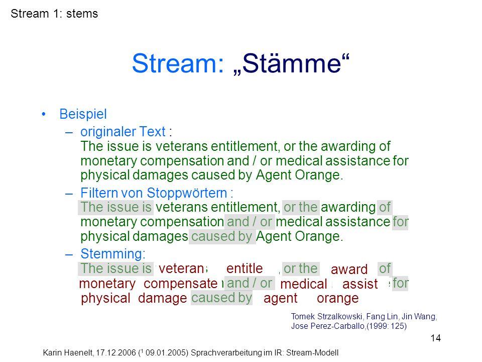 """Stream: """"Stämme Beispiel"""