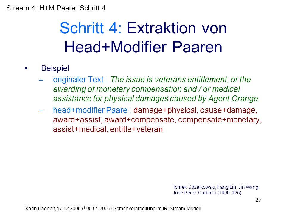 Schritt 4: Extraktion von Head+Modifier Paaren