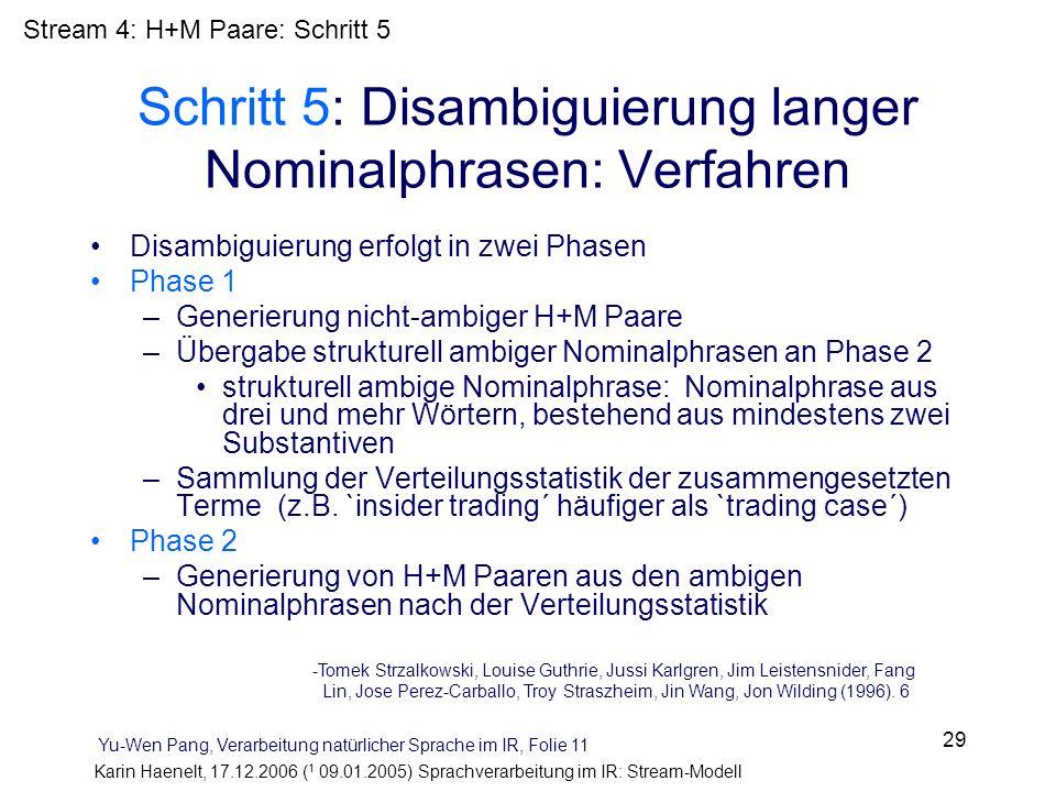Schritt 5: Disambiguierung langer Nominalphrasen: Verfahren
