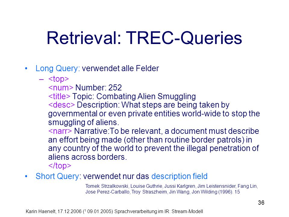 Retrieval: TREC-Queries