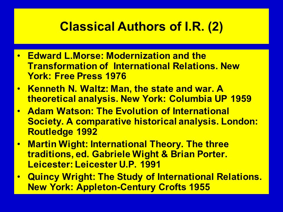 Classical Authors of I.R. (2)