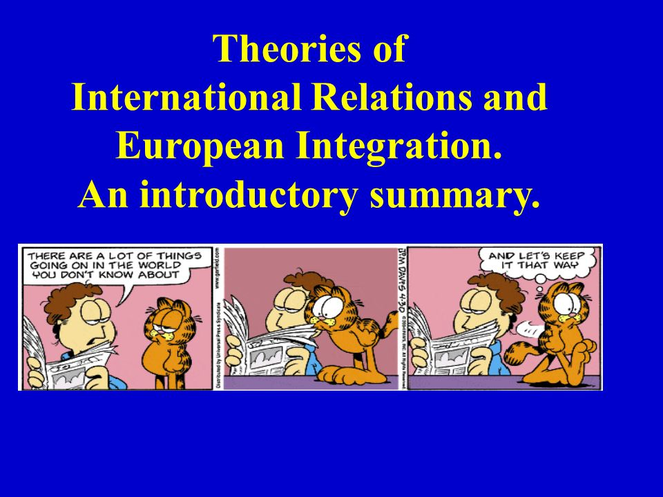 International Relations and An introductory summary.