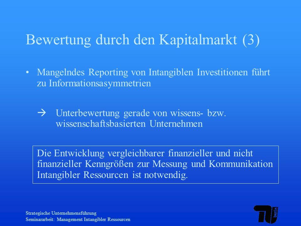Bewertung durch den Kapitalmarkt (3)